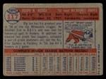 1957 Topps #117  Joe Adcock  Back Thumbnail