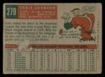 1959 Topps #279  Ernie Johnson  Back Thumbnail