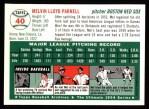 1994 Topps 1954 Archives #40  Mel Parnell  Back Thumbnail