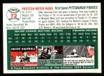 1994 Topps 1954 Archives #72  Preston Ward  Back Thumbnail