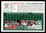 1994 Topps 1954 Archives #53  Jack Dittmer  Back Thumbnail