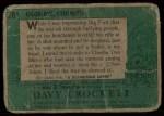 1956 Topps Davy Crockett #38 GRN  Good-Bye Back Thumbnail