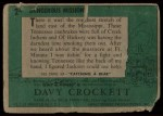 1956 Topps Davy Crockett #2 GRN  Dangerous Mission  Back Thumbnail
