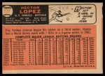 1966 Topps #177  Hector Lopez  Back Thumbnail