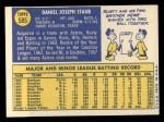 1970 Topps #585  Rusty Staub  Back Thumbnail