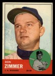 1963 Topps #439 A Don Zimmer  Front Thumbnail