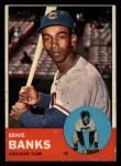 1963 Topps #380  Ernie Banks  Front Thumbnail