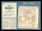 1961 Topps #4  Ray Berry  Back Thumbnail