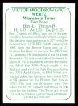 1978 TCMA The 60's #227  Vic Wertz  Back Thumbnail