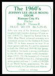 1978 TCMA The 60's #68  Blue Moon Odom  Back Thumbnail