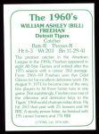 1978 TCMA The 60's #285  Bill Freehan  Back Thumbnail