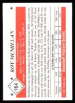 1979 TCMA The 50's #154  Roy McMillan  Back Thumbnail