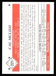 1979 TCMA The 50's #221  Cal McLish  Back Thumbnail