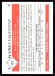 1979 TCMA The 50's #61  Corky Valentine  Back Thumbnail