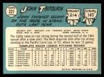 1965 Topps #221  John Tsitouris  Back Thumbnail