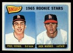 1965 Topps #517   Angels Rookie Stars  -  Paul Schaal / Jack Warner Front Thumbnail