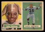1957 Topps #16  John Johnson  Front Thumbnail