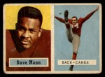 1957 Topps #50   Dave Mann Front Thumbnail