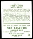 1933 Goudey Reprints #179  Fred Leach  Back Thumbnail