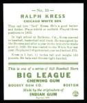 1933 Goudey Reprints #33  Ralph Kress  Back Thumbnail