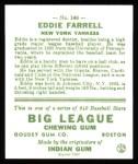1933 Goudey Reprints #148  Eddie Farrell  Back Thumbnail