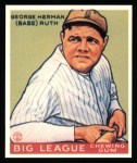 1933 Goudey Reprints #181  Babe Ruth  Front Thumbnail