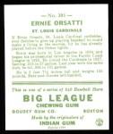 1933 Goudey Reprints #201  Ernie Orsatti  Back Thumbnail