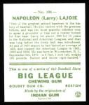 1933 Goudey Reprints #106  Nap Lajoie  Back Thumbnail