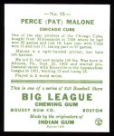 1933 Goudey Reprints #55  Pat Malone  Back Thumbnail