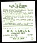 1933 Goudey Reprints #120  Carl Reynolds  Back Thumbnail
