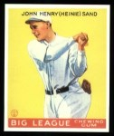 1933 Goudey Reprints #85  Heinie Sand  Front Thumbnail