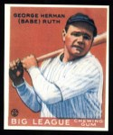 1933 Goudey Reprints #149  Babe Ruth  Front Thumbnail