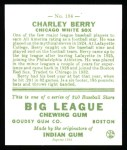 1933 Goudey Reprints #184  Charles Berry  Back Thumbnail