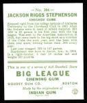 1933 Goudey Reprints #204  Riggs Stephenson  Back Thumbnail