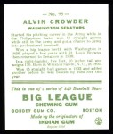 1933 Goudey Reprints #95  Alvin Crowder  Back Thumbnail