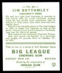 1933 Goudey Reprints #44  Jim Bottomley  Back Thumbnail
