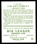 1933 Goudey Reprints #44  Jim Bottomley  Back Thumbnail