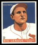 1933 Goudey Reprints #62  Pepper Martin  Front Thumbnail
