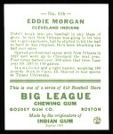 1933 Goudey Reprints #116  Eddie Morgan  Back Thumbnail