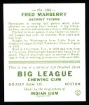 1933 Goudey Reprints #104  Fred Marberry  Back Thumbnail