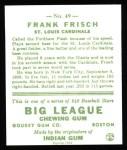 1933 Goudey Reprints #49  Frankie Frisch   Back Thumbnail