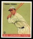 1933 Goudey Reprints #49  Frankie Frisch   Front Thumbnail