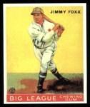 1933 Goudey Reprints #154  Jimmie Foxx  Front Thumbnail