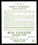 1933 Goudey Reprints #48  Marty McManus  Back Thumbnail