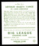 1933 Goudey Reprints #2  Dazzy Vance  Back Thumbnail