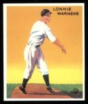 1933 Goudey Reprints #203  Lonnie Warneke  Front Thumbnail