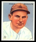 1933 Goudey Reprints #190  Fred Schulte  Front Thumbnail