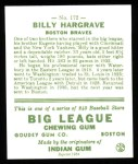 1933 Goudey Reprints #172  Billy Hargrave  Back Thumbnail