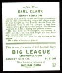 1933 Goudey Reprints #57  Earl Clark  Back Thumbnail