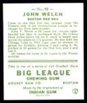 1933 Goudey Reprints #93  John Welch  Back Thumbnail